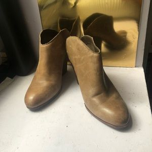 Dolce Vita Brown Taupe Open Back Boots